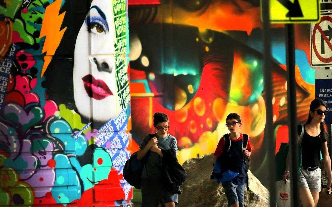 Underground at Ink Block Murals Featured in Boston Globe Cover Story on Public Art